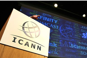 "FILE- In this Wednesday June 13, 2012, file photo, Internet Corporation for Assigned Names and Numbers, ICANN, President and Chief Executive Rod Beckstrom, speaks on expanding the number of domain name suffixes during a press conference in London. Hundreds of Internet address suffixes to rival "".com"" should be available for people and businesses to use by the end of the year, the head of an Internet oversight agency said Monday Feb. 25, 2013. The initial ones, expected in mid-2013, will likely be in Chinese and other languages besides English, said Fadi Chehade, CEO of the Internet Corporation for Assigned Names and Numbers. (AP Photo/Tim Hales, File)"