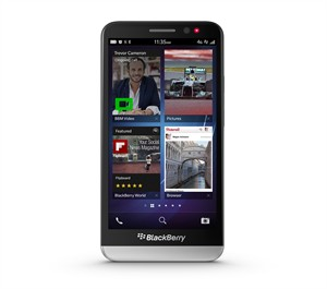 The BlackBerry Z30 is shown in a handout photo. BlackBerry says its latest smartphone will arrive in Canada later this month, but it won't have the support of one of the country's largest carriers.The smartphone maker says Rogers Communications has decided not to stock the new BlackBerry Z30, a touch-screen model similar in size to a Samsung Galaxy 4, when it's released on Oct. 15 at various Canadian retailers. THE CANADIAN PRESS/ho-BlackBerry