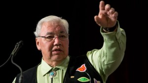 Truth and Reconciliation Commission Chair Justice Murray Sinclair speaks during the Grand entry ceremony during the second day of closing events for the Truth and Reconciliation Commission in Ottawa on June 1, 2015. THE CANADIAN PRESS/Adrian Wyld