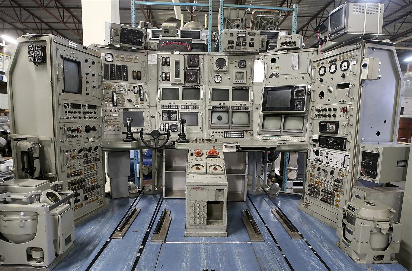 A section of the nerwin at the keyport undersea museum for Futuristic control room